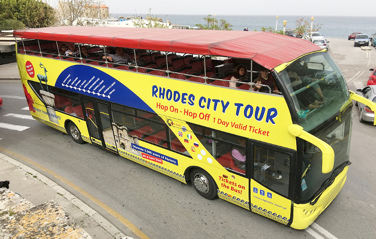 Rhodes City Tour with Open Bus
