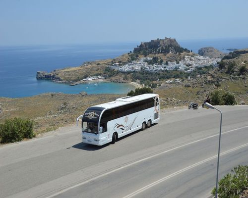 Lindos Acropolis by Coach Tour | Excursions | Captains Tours Rhodes Greece