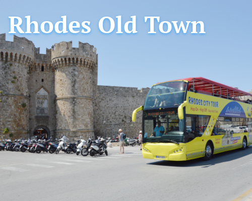 Rhodes Old Town | Open Bus Stop