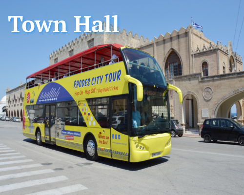 Rhodes Town Hall | Open Bus Stop