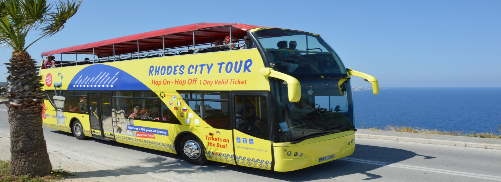 Rhodes tour met open bus | Captains Tours
